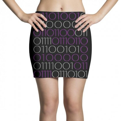 I Love You Binary Code... Great Gift Mini Skirts Designed By Daraart