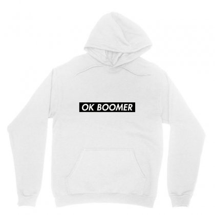 Ok Boomer   Black For Fun Unisex Hoodie Designed By Meganphoebe