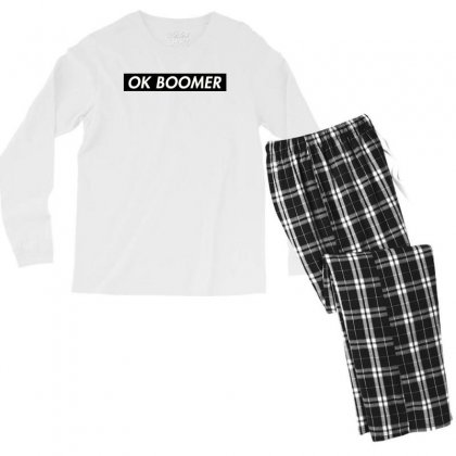 Ok Boomer   Black For Fun Men's Long Sleeve Pajama Set Designed By Meganphoebe