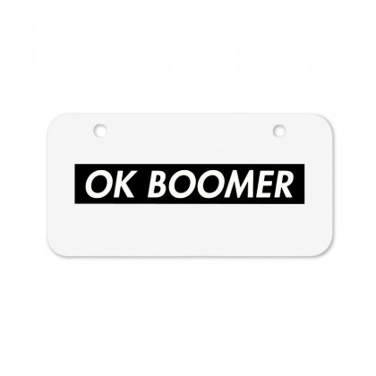 Ok Boomer   Black For Fun Bicycle License Plate Designed By Meganphoebe