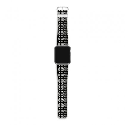 Ok Boomer   Black For Fun Apple Watch Band Designed By Meganphoebe