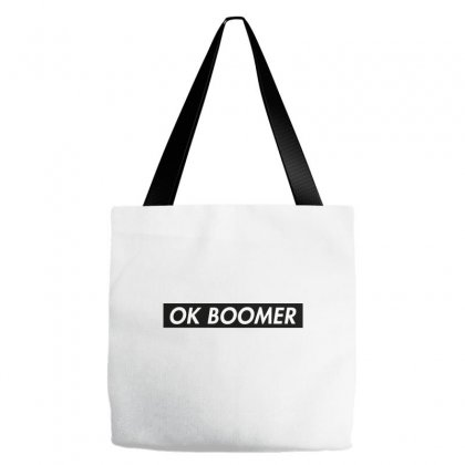 Ok Boomer   Black For Fun Tote Bags Designed By Meganphoebe