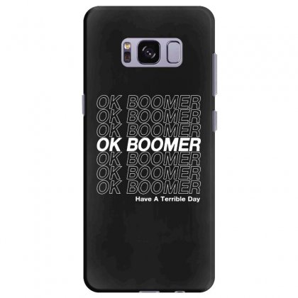 Ok Boomer   White Style Samsung Galaxy S8 Plus Case Designed By Meganphoebe