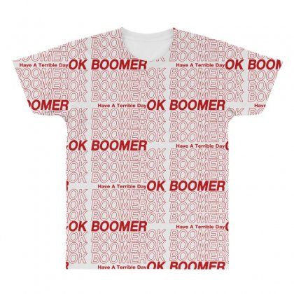 Ok Boomer   Red Style All Over Men's T-shirt Designed By Meganphoebe