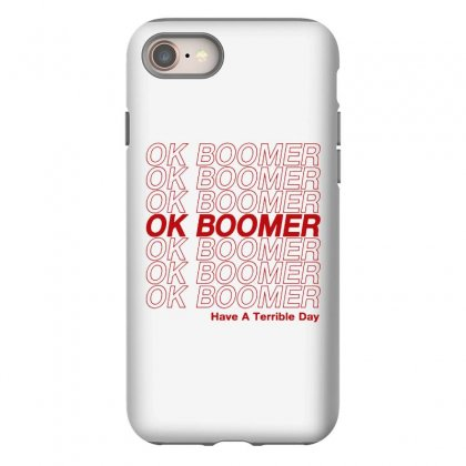 Ok Boomer   Red Style Iphone 8 Case Designed By Meganphoebe
