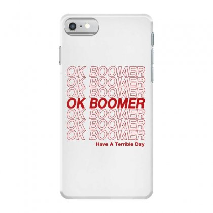 Ok Boomer   Red Style Iphone 7 Case Designed By Meganphoebe