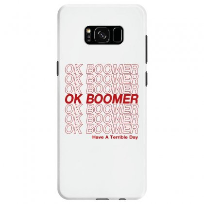 Ok Boomer   Red Style Samsung Galaxy S8 Case Designed By Meganphoebe