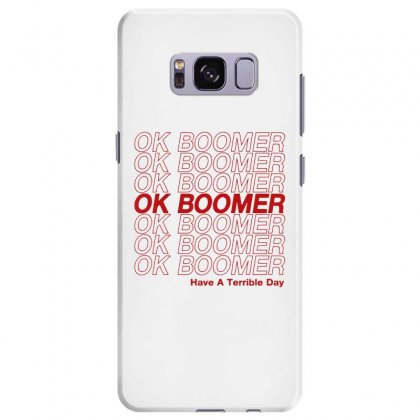 Ok Boomer   Red Style Samsung Galaxy S8 Plus Case Designed By Meganphoebe
