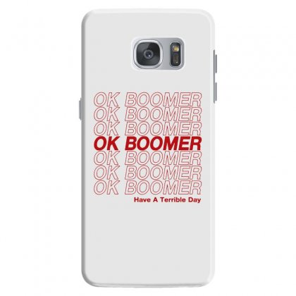 Ok Boomer   Red Style Samsung Galaxy S7 Case Designed By Meganphoebe