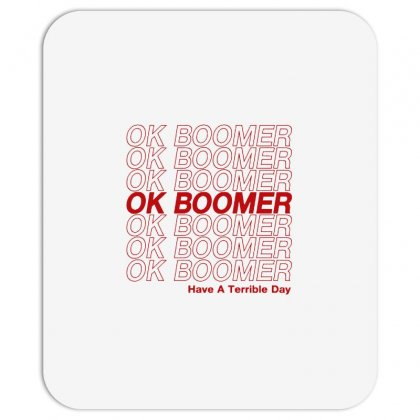 Ok Boomer   Red Style Mousepad Designed By Meganphoebe