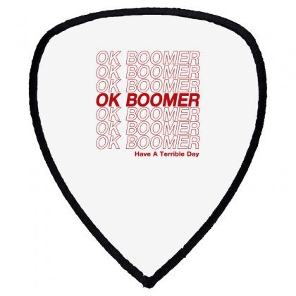 Ok Boomer   Red Style Shield S Patch Designed By Meganphoebe