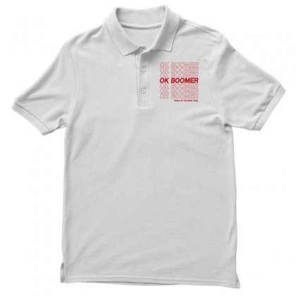 Ok Boomer   Red Style Men's Polo Shirt Designed By Meganphoebe
