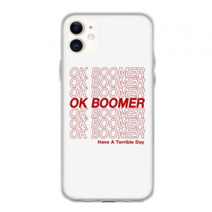 Ok Boomer   Red Style Iphone 11 Case Designed By Meganphoebe