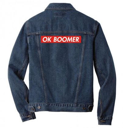 Ok Boomer   For Fun Men Denim Jacket Designed By Meganphoebe