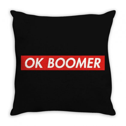 Ok Boomer   For Fun Throw Pillow Designed By Meganphoebe