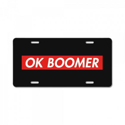 Ok Boomer   For Fun License Plate Designed By Meganphoebe
