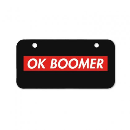 Ok Boomer   For Fun Bicycle License Plate Designed By Meganphoebe