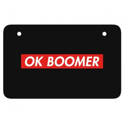 Ok Boomer   For Fun Atv License Plate Designed By Meganphoebe