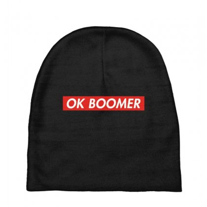 Ok Boomer   For Fun Baby Beanies Designed By Meganphoebe