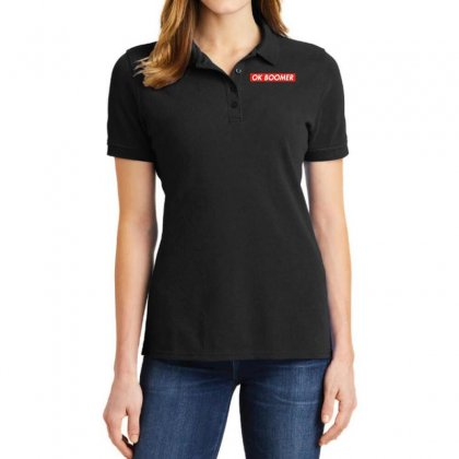 Ok Boomer   For Fun Ladies Polo Shirt Designed By Meganphoebe