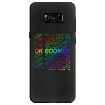 Ok Boomer   Rainbow Style Samsung Galaxy S8 Case Designed By Meganphoebe