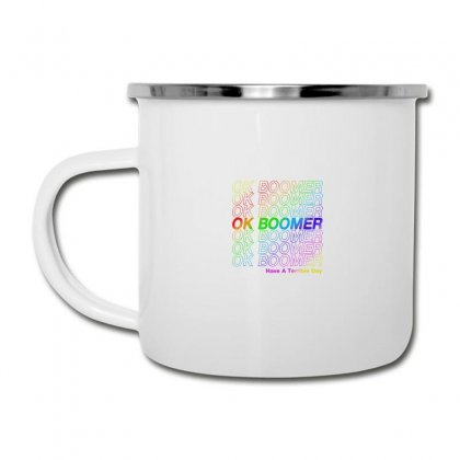 Ok Boomer   Rainbow Style Camper Cup Designed By Meganphoebe