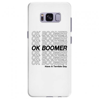 Ok Boomer   Black Style Samsung Galaxy S8 Plus Case Designed By Meganphoebe