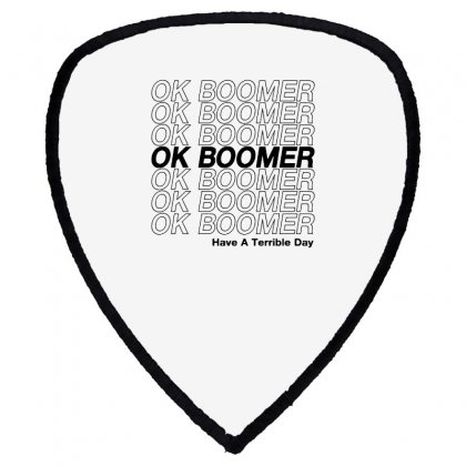 Ok Boomer   Black Style Shield S Patch Designed By Meganphoebe