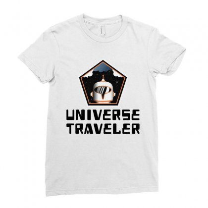 Universe Traveler Ladies Fitted T-shirt Designed By Trending Design