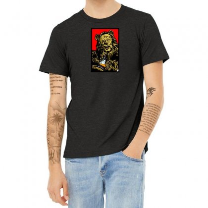 Cowardly Lions Courage Juice Heather T-shirt Designed By B4en1