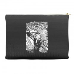 scream for coffee Accessory Pouches | Artistshot