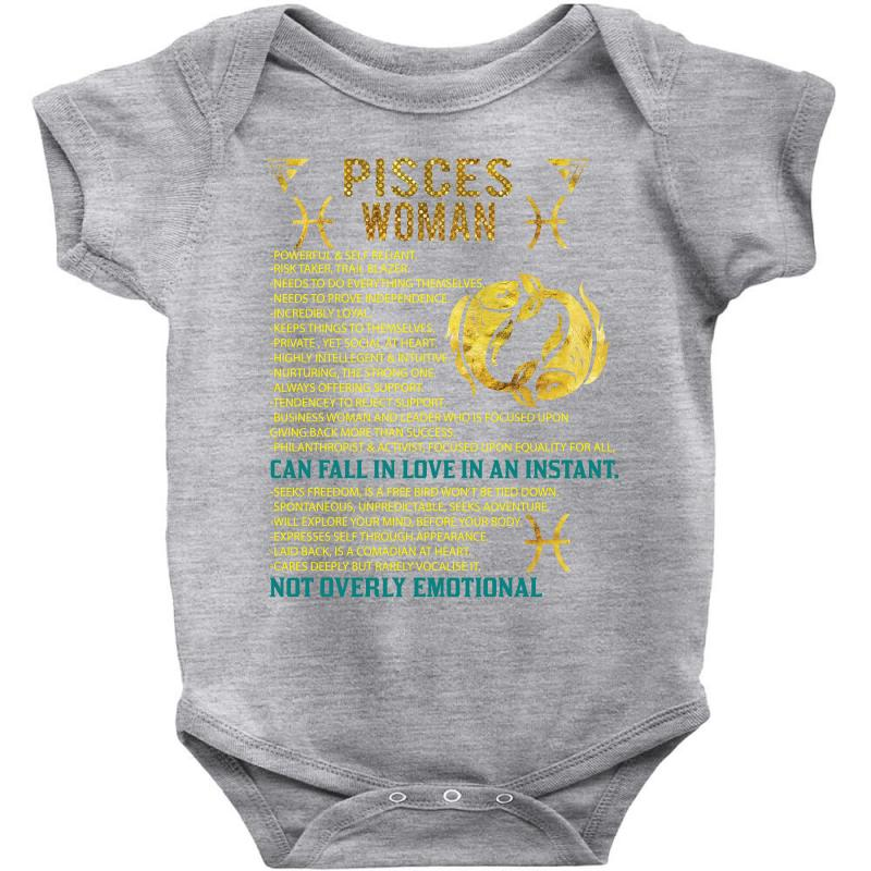 Pisces Woman Baby Bodysuit  By Artistshot