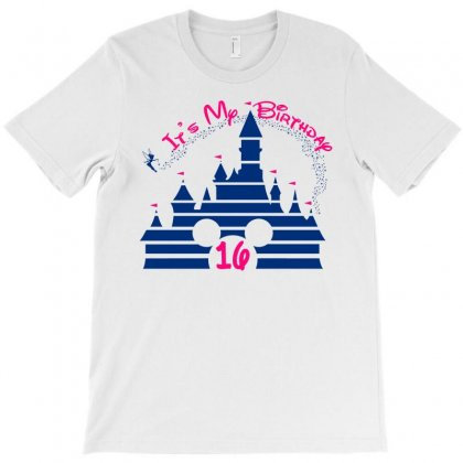 Sweet 16 Birthday Disney Castle T-shirt Designed By Tshirt Time
