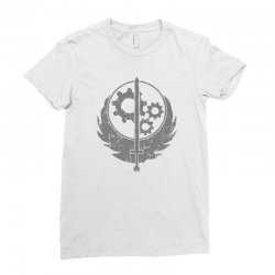 brotherhood of steel fallout 3 4 Ladies Fitted T-Shirt | Artistshot