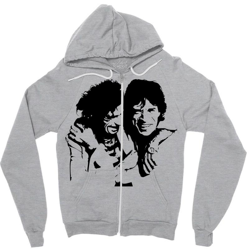 f14931c22c Mick Jagger And Keith Richards Zipper Hoodie. By Artistshot