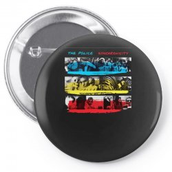 the police synchronicity rock band Pin-back button   Artistshot
