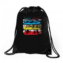 the police synchronicity rock band Drawstring Bags   Artistshot