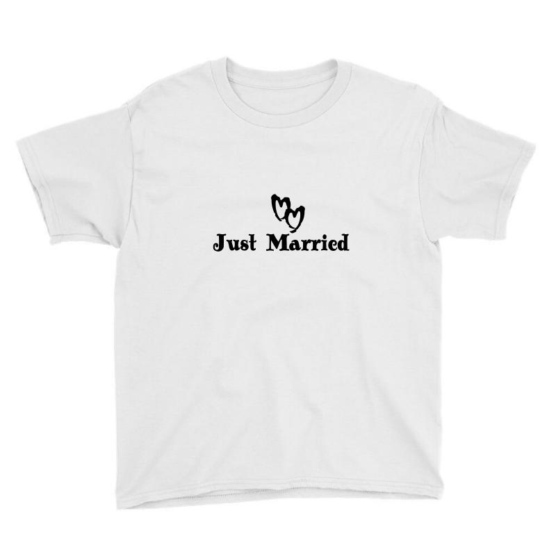 b2678473902c0 Just Married Bride And Groom Youth Tee. By Artistshot
