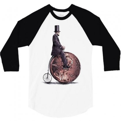 Penny Farthing 3/4 Sleeve Shirt Designed By Nurmasit1