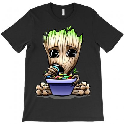 Lovely Hungry Groot T-shirt Designed By Mdk Art
