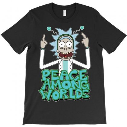Rick And Morty Peace Among Worlds T-shirt Designed By Mdk Art