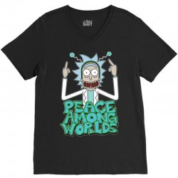 Rick and Morty Peace Among Worlds V-Neck Tee | Artistshot