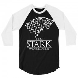 House Stark Winter is Coming 3/4 Sleeve Shirt | Artistshot