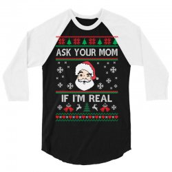 Custom Ask Your Mom If I Am Real Christmas Sweater Tank Top By
