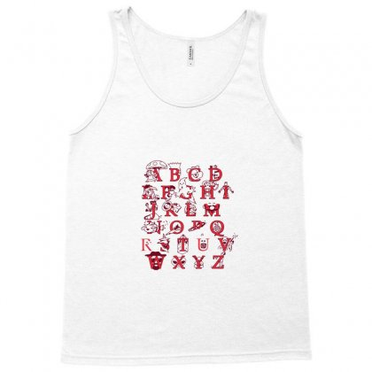 Pop Alphabet Tank Top Designed By Nurmasit1