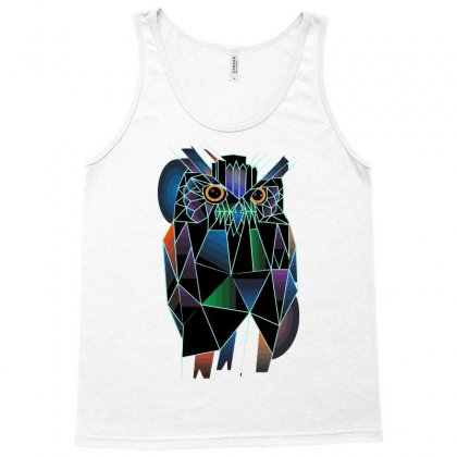 Polygonal Owl Tank Top Designed By Nurmasit1