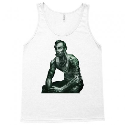President Lincoln Five Dollar Bill Muscle Jacked Gym Tank Top Designed By Nurmasit1