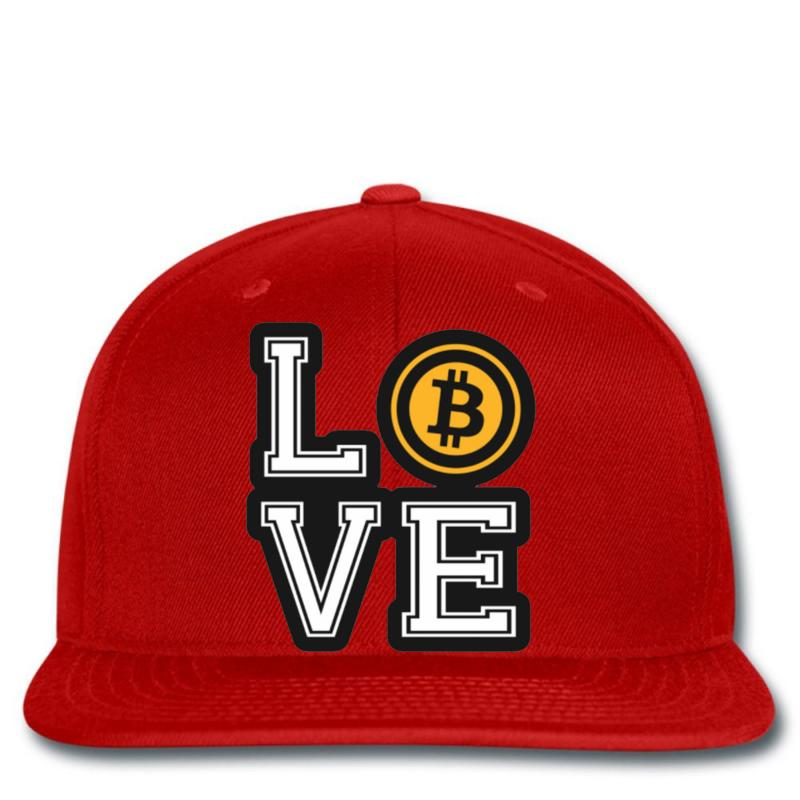 5d57ef4b0b7 Custom Love Bitcoin Snapback By Mdk Art - Artistshot