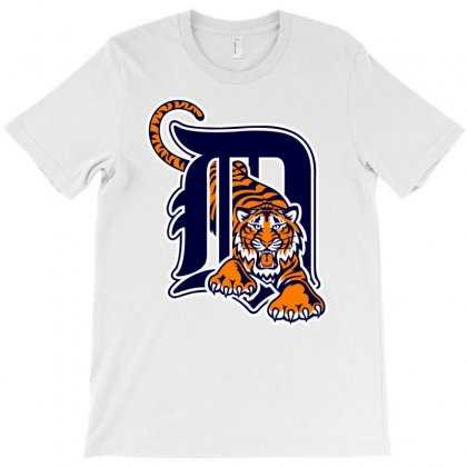 Detroit Tigers Sports Baseball T-shirt Designed By Mdk Art