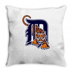 detroit tigers sports baseball Throw Pillow | Artistshot